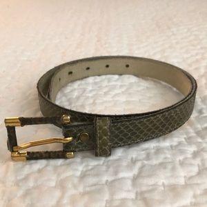 Anne Klein Authentic Snake Belt